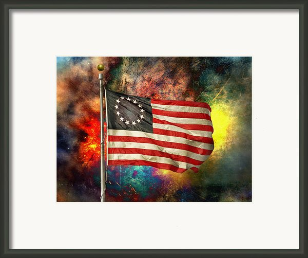 Betsy Ross Flag Framed Print By Steven  Michael