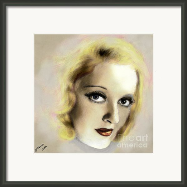 Bette Davis Eyes Framed Print By Arne Hansen