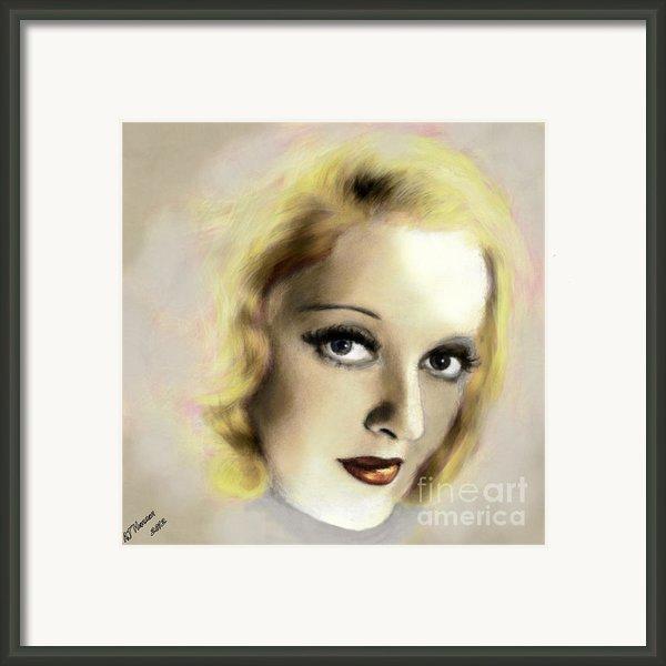 Bette Davis Eyes Framed Print By Arne Hansen