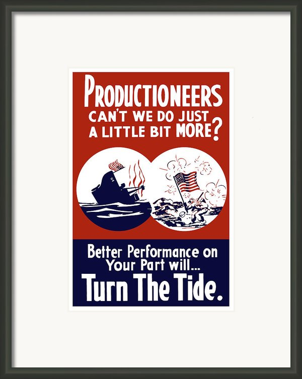Better Performance On Your Part Will Turn The Tide Framed Print By War Is Hell Store