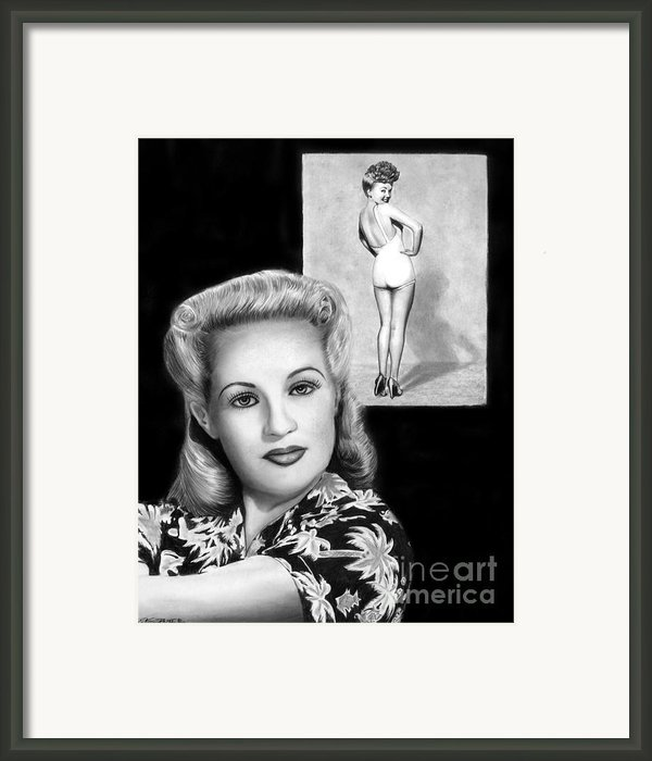 Betty Grable Framed Print By Peter Piatt