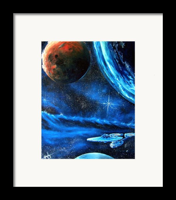 Between Alien Worlds Framed Print By Murphy Elliott