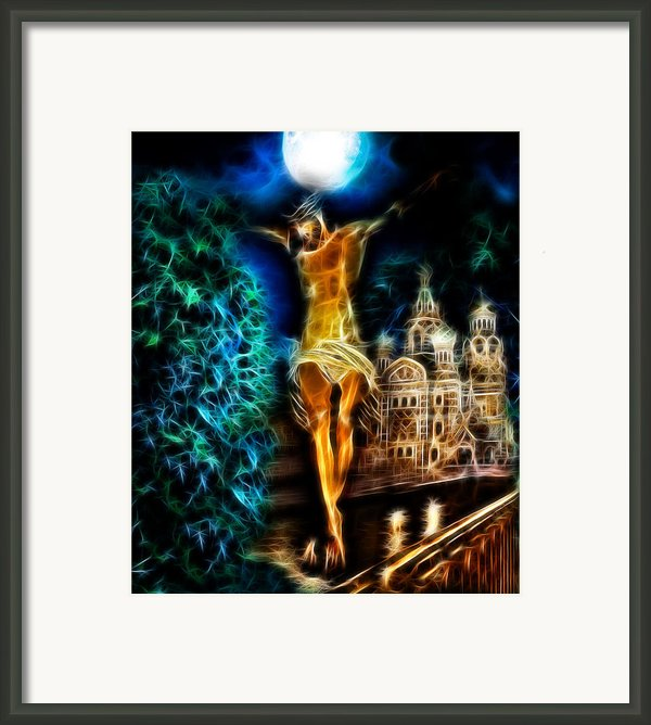 Between Heaven And Earth Framed Print By Karen Showell