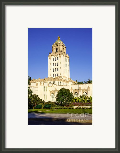Beverly Hills Police Station Framed Print By Paul Velgos