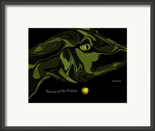 Beware Of The Serpent Framed Print By Maria Urso