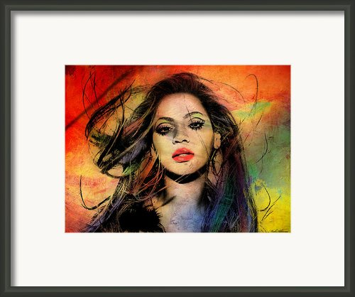 Beyonce Framed Print By Mark Ashkenazi