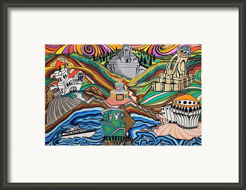 Beyond The Sea Framed Print By Carlos Martinez