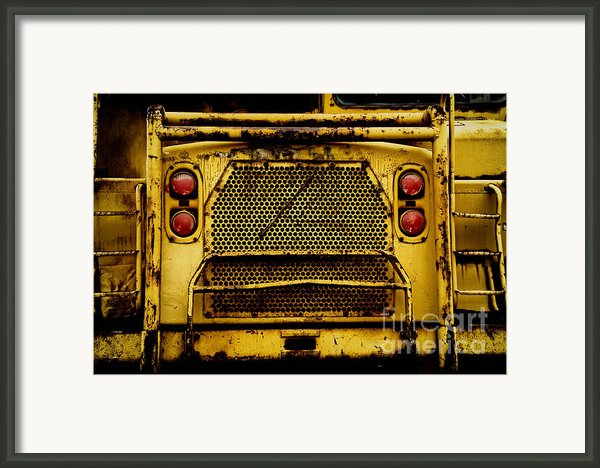 Big Dump Truck Grille Framed Print By Amy Cicconi