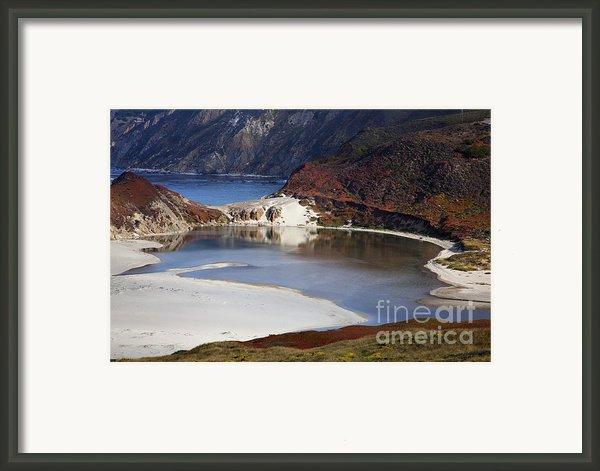 Big Sur Coastal Pond Framed Print By Jenna Szerlag