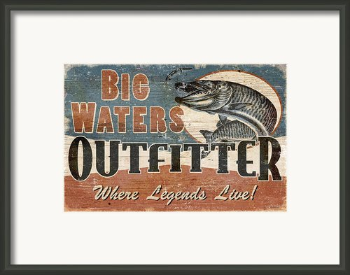 Big Waters Outfitters Framed Print By Jq Licensing