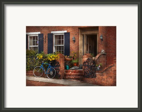 Bike - Waiting For A Ride Framed Print By Mike Savad
