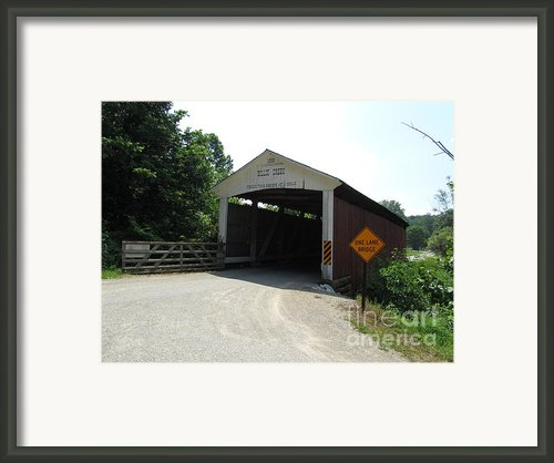 Billie Creek Bridge Framed Print By Kathryn Smith