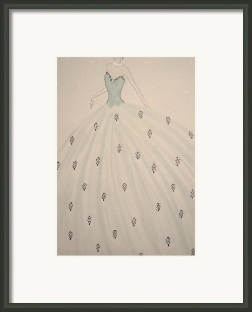 Billowing Blue  Framed Print By Christine Corretti