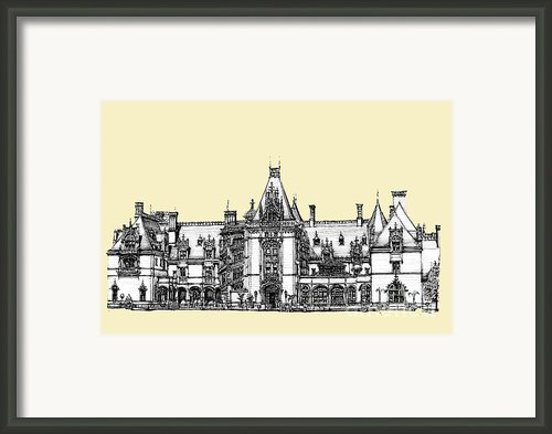 Biltmore Estate In Asheville Framed Print By Lee-ann Adendorff