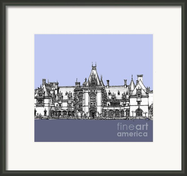 Biltmore Estate In Blues Framed Print By Lee-ann Adendorff
