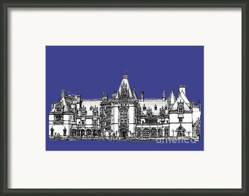 Biltmore Estate In Royal Blue Framed Print By Lee-ann Adendorff