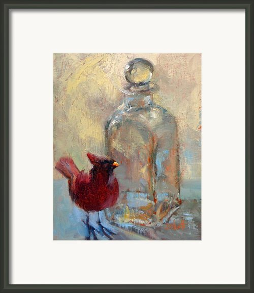 Bird And Glass Framed Print By Donna Shortt