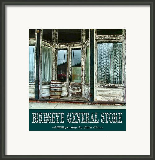Birdseye General Store Framed Print By Julie Dant