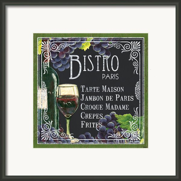 Bistro Paris Framed Print By Debbie Dewitt