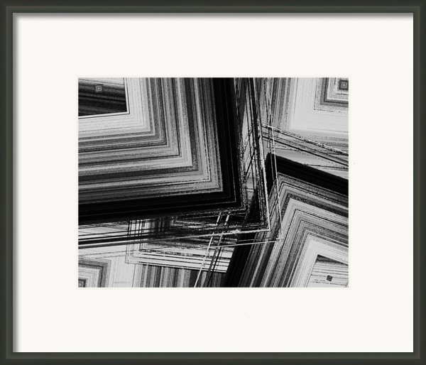 Black And White Geometric Art Framed Print By Mario  Perez