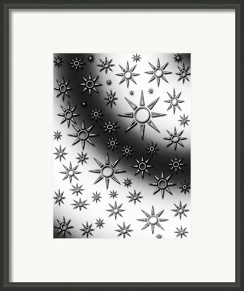 Black And White Suns Framed Print By Gaspar Avila