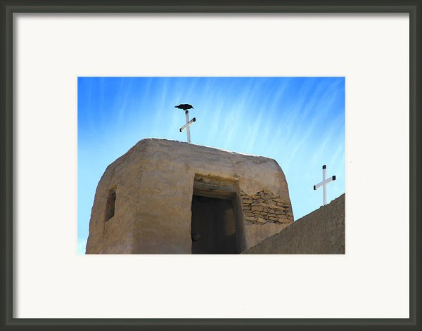 Black Bird On Duty Framed Print By Mike Mcglothlen