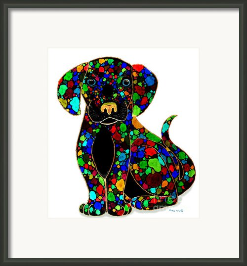 Black Dog 2 Framed Print By Nick Gustafson