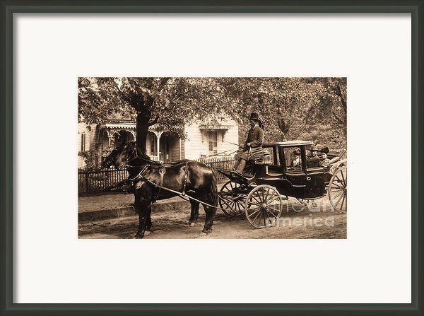 Black Family In Buggy Framed Print By Paul W Faust -  Impressions Of Light