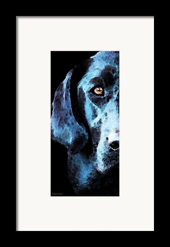 Black Labrador Retriever Dog Art - Hunter Framed Print By Sharon Cummings