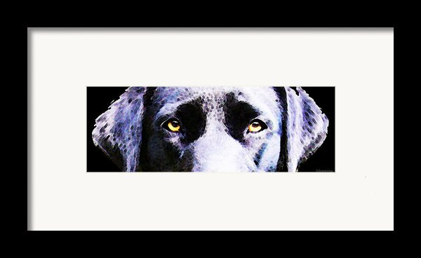 Black Labrador Retriever Dog Art - Lab Eyes Framed Print By Sharon Cummings