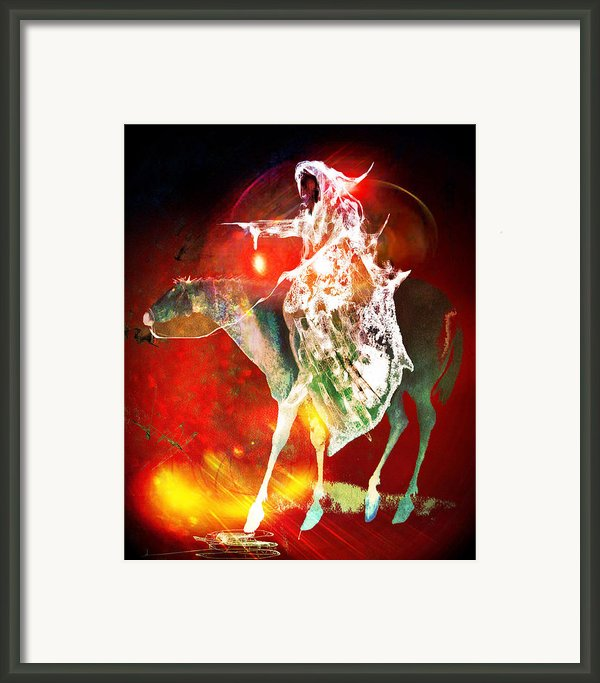 Black Rider I Framed Print By Joe  Gilronan