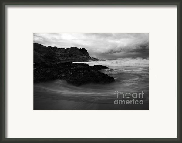 Black Rock  Swirl Framed Print By Mike  Dawson