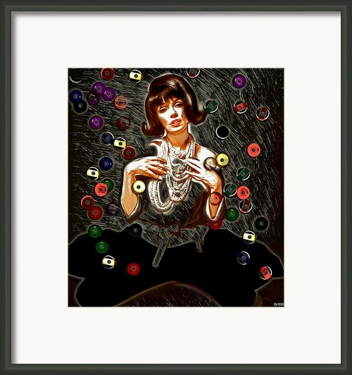 Black Wig Mm Framed Print By Daniel Janda