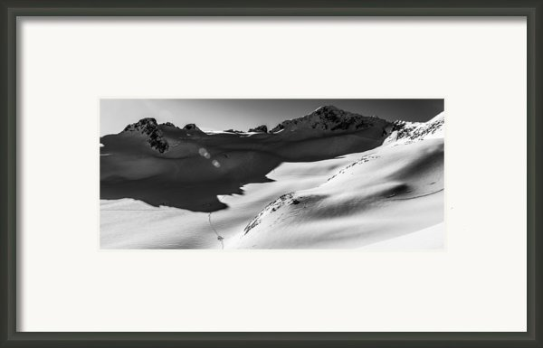 Blackcomb Backcountry Framed Print By Ian Stotesbury