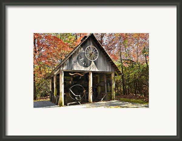 Blacksmith Shop Framed Print By Susan Leggett
