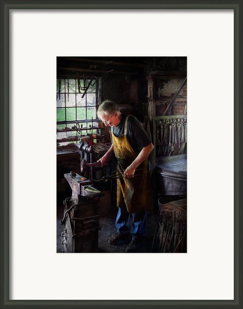 Blacksmith - Starting With A Bang  Framed Print By Mike Savad