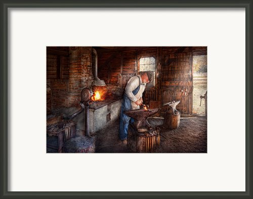 Blacksmith - The Smith Framed Print By Mike Savad