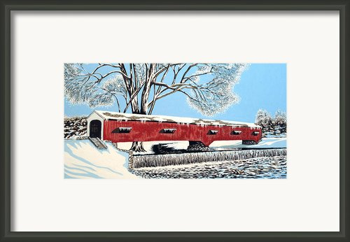 Blankets Of Winter Framed Print By David Linton