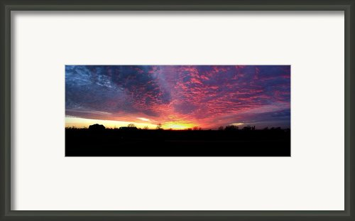 Blazing Framed Print By Claude Oesterreicher