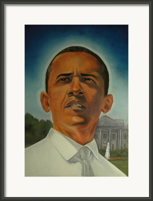 Bless Mr.obama Framed Print By Joyce Hayes