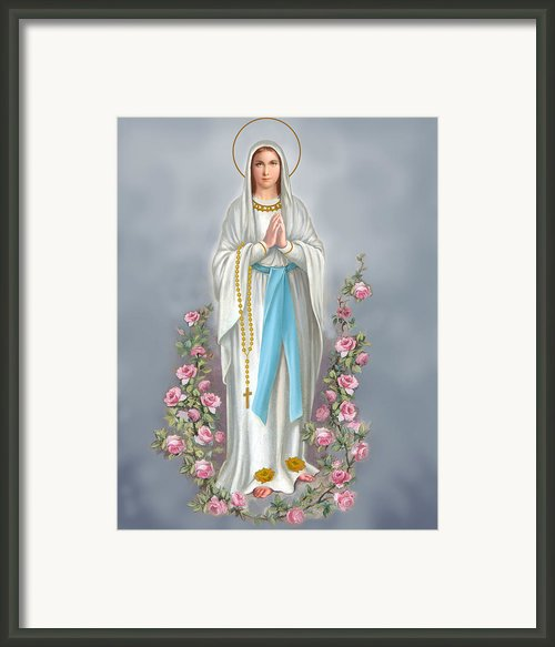 Blessed Virgin Framed Print By Valerian Ruppert