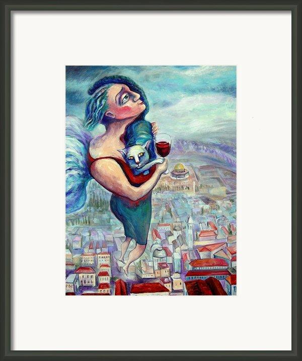 Blessing Over The Wine Framed Print By Elisheva Nesis