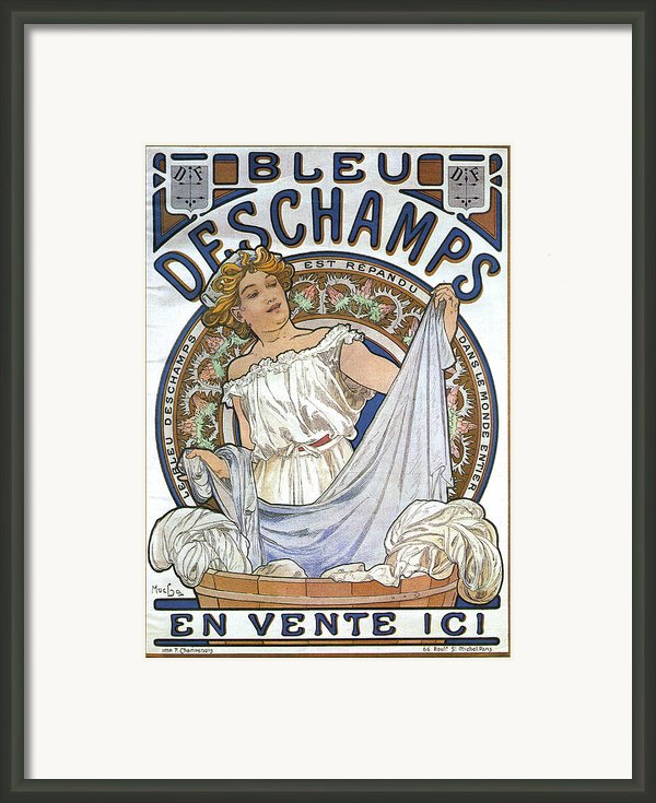 Bleu Deschamps Framed Print By Nomad Art And  Design