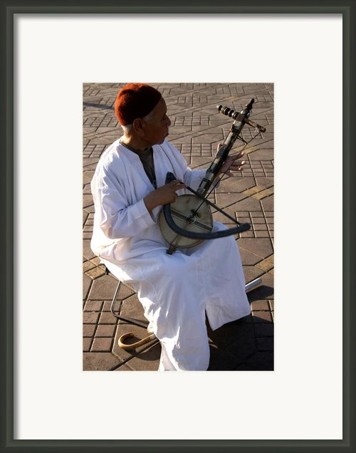 Blind Man Place Djemna Al Fna Marrakesh Morocco Framed Print By Artphoto-ralph A  Ledergerber-photography