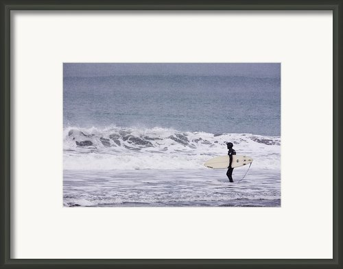 Blizzard Surfing Framed Print By Tim Grams
