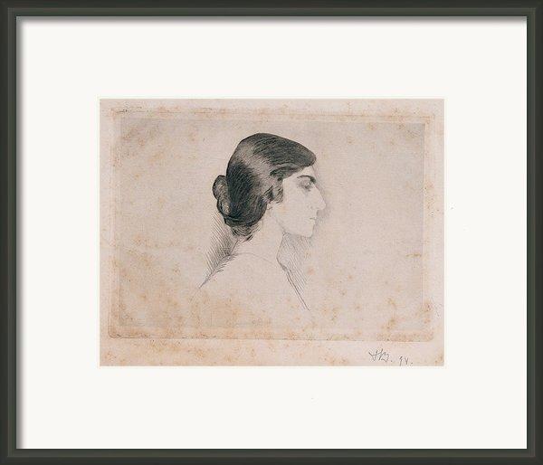 Blood Florence, Self-portrait, 1898 Framed Print By Everett