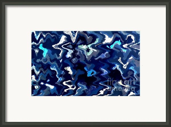 Blue And Turquoise Abstract Framed Print By Carol Groenen