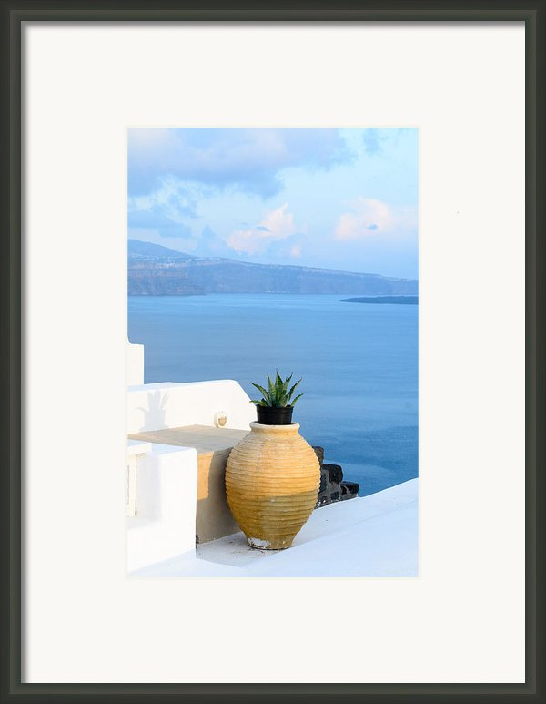 Blue And White Framed Print By Zoomclickboom Studio