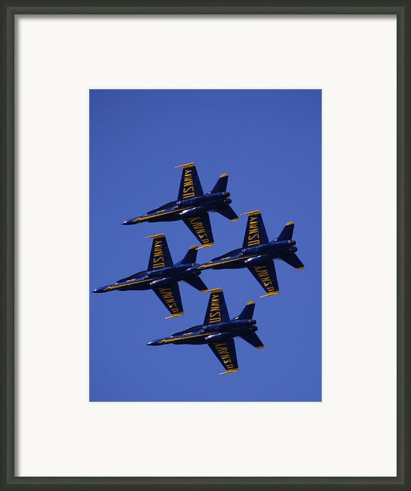 Blue Angels Framed Print By Bill Gallagher