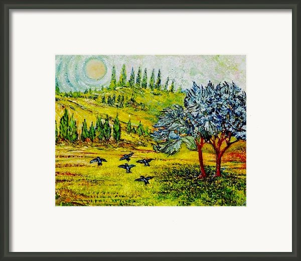 Blue Birds Framed Print By Gunter  Hortz